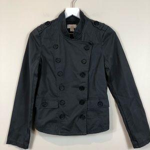 Loft Dark Grey Military Double Breasted Jacket NWT